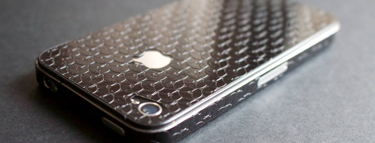iPhone Aufkleber 3D - Pailletten schwarz