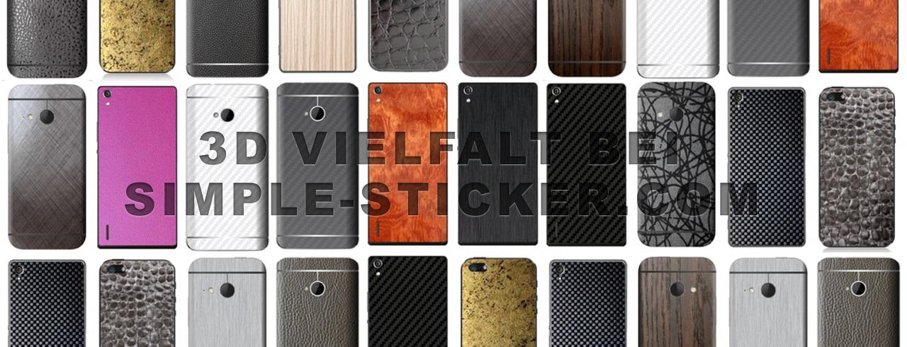 3D Aufkleber Vielfalt bei simple-sticker.com