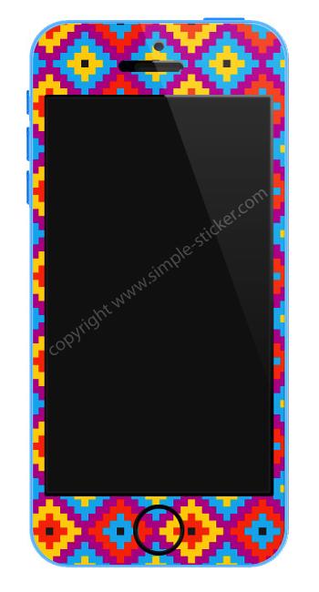 2D Aufkleber/Sticker, Vorderseite für iPhone 5C - simple-sticker.com