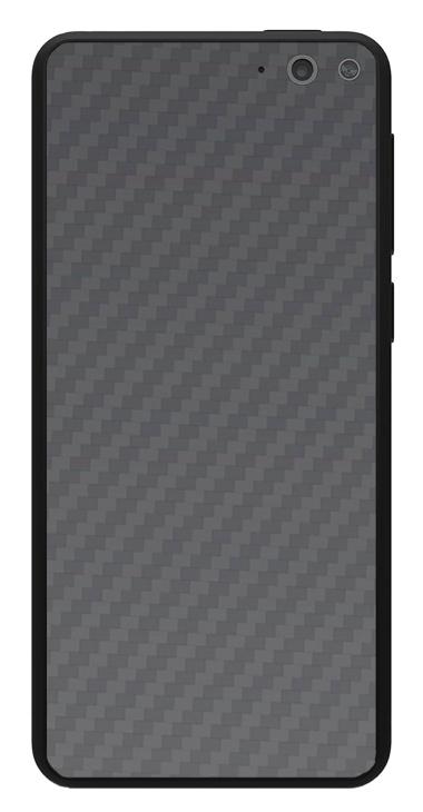 Amazon Fire Phone 3D Aufkleber / Sticker für Rückseite - Carbon grau