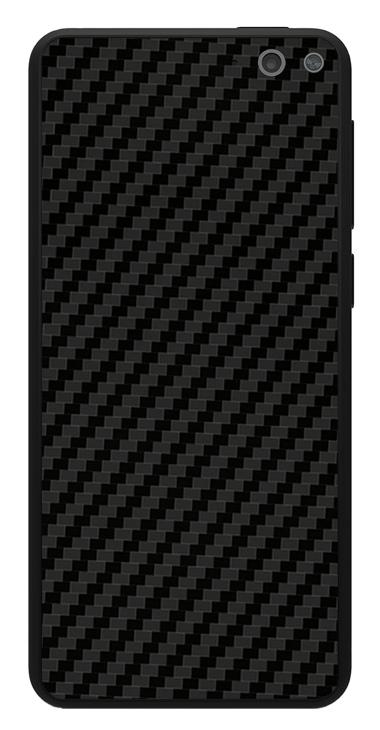 Amazon Fire Phone 3D Aufkleber / Sticker für Rückseite - Carbon schwarz