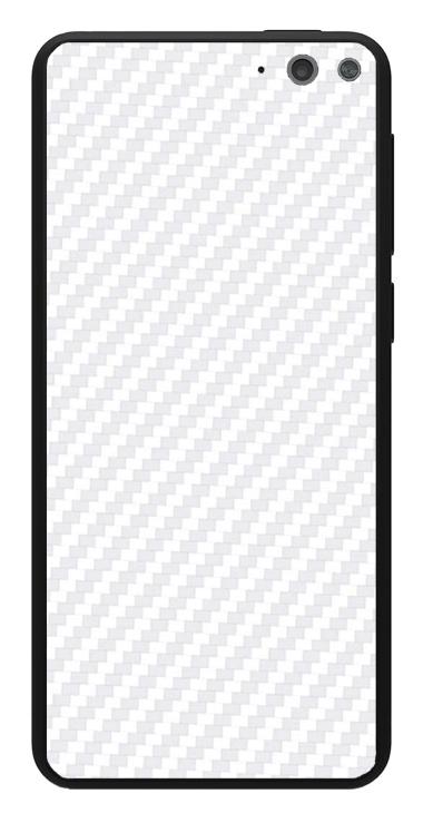 Amazon Fire Phone 3D Aufkleber / Sticker für Rückseite - Carbon weiß