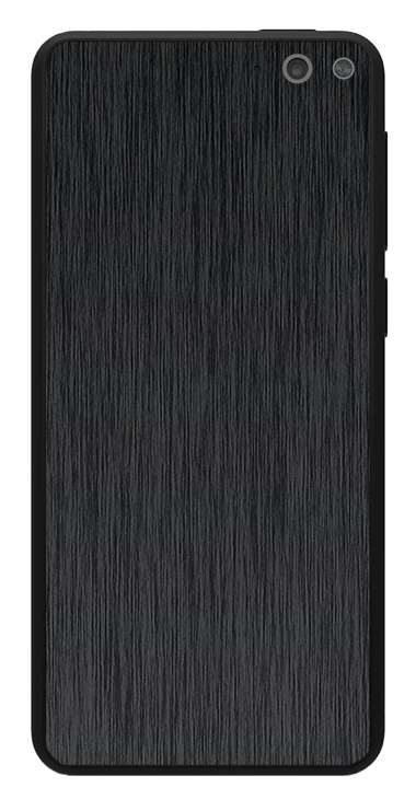 Amazon Fire Phone 3D Aufkleber / Sticker für Rückseite - Gebürsteter Stahl - schwarz
