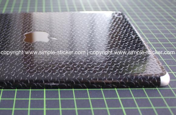 iPad Aufkleber / Sticker mit 3D Struktur. Nur Rückseite. Geeignet für iPad mini (Retina) Wi-Fi - simple-sticker.com