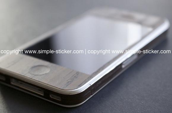 iPhone Aufkleber / Sticker 3D Struktur für iPhone 4/4S/5/5S - Holz
