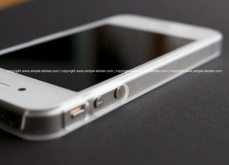 iPhone Bumper transparent, matt für iPhone 4/4S/5/5S - simple-sticker.com