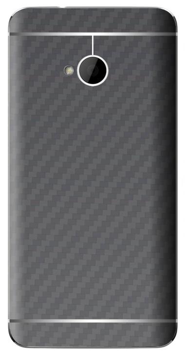HTC One M7 3D Aufkleber / Sticker für Rückseite - Carbon grau