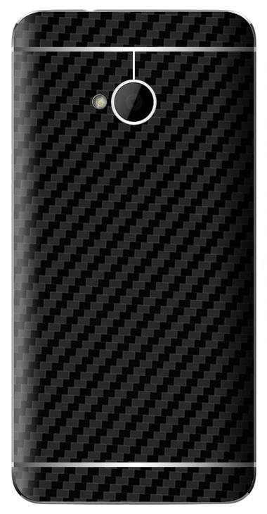 HTC One M7 3D Aufkleber / Sticker für Rückseite - Carbon schwarz