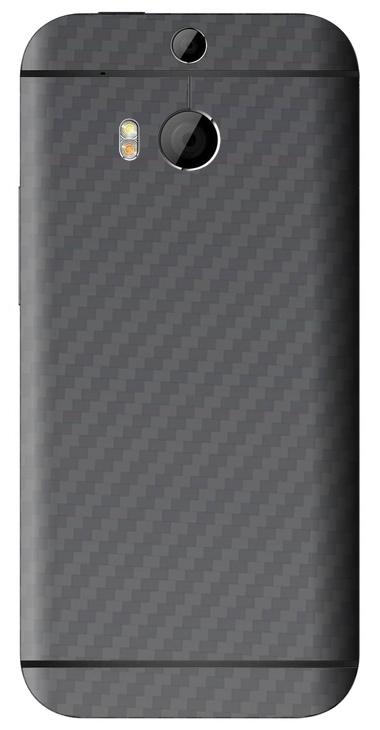 HTC One M8 3D Aufkleber / Sticker für Rückseite - Carbon grau