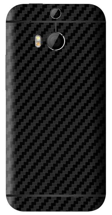 HTC One M8 3D Aufkleber / Sticker für Rückseite - Carbon schwarz