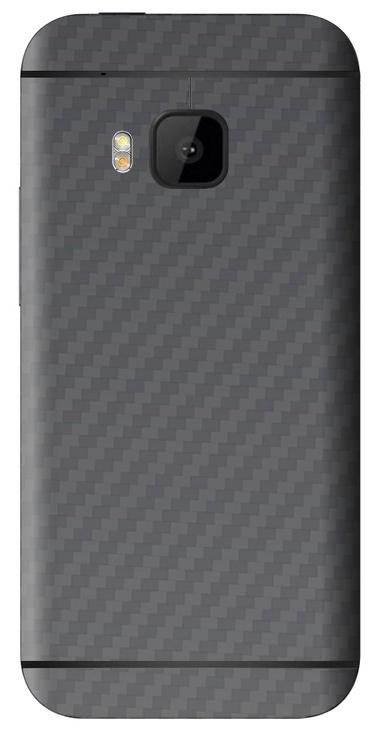 HTC One M9 3D Aufkleber / Sticker für Rückseite - Carbon grau