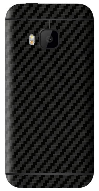 HTC One M9 3D Aufkleber / Sticker für Rückseite - Carbon schwarz
