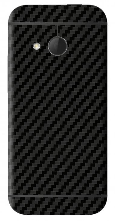 HTC One Mini 2 3D Aufkleber / Sticker für Rückseite - Carbon schwarz