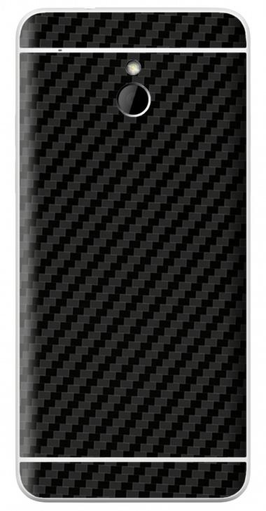 HTC One Mini 3D Aufkleber / Sticker für Rückseite - Carbon schwarz