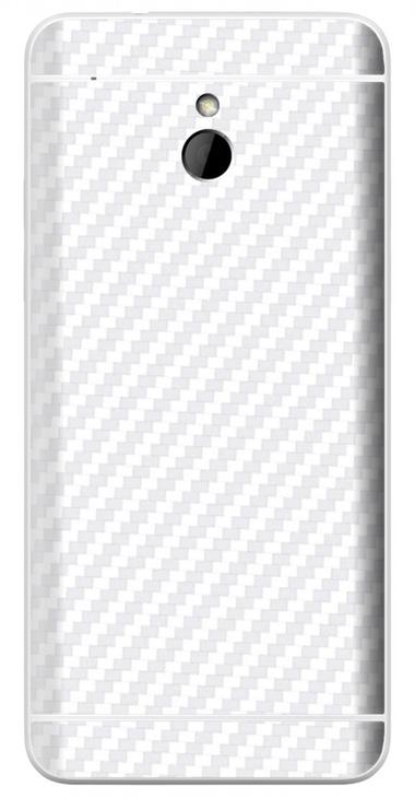 HTC One Mini 3D Aufkleber / Sticker für Rückseite - Carbon weiß