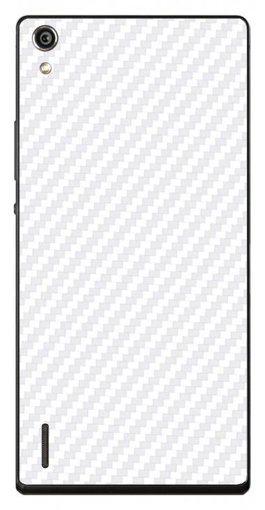 Huawei Ascend P7 3D Aufkleber / Sticker für Rückseite - Carbon weiß