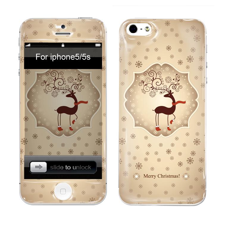 iPhone Aufkleber / Sticker 3D für iPhone 5/5S - Weihnachten