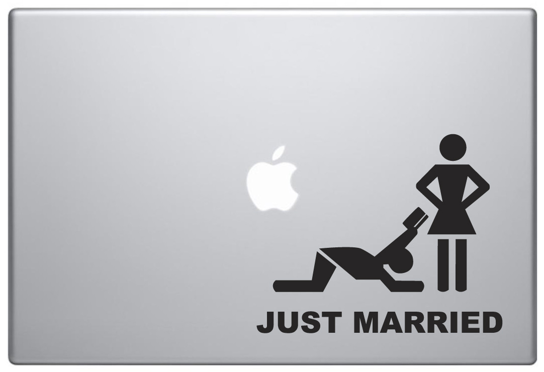 MacBook Aufkleber / Decal - Just Married