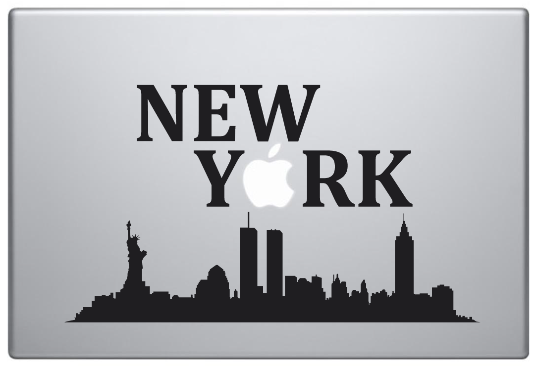 MacBook Aufkleber / Decal - NY. Big Apple