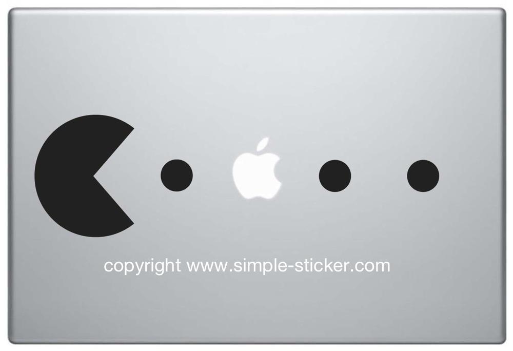 MacBook Aufkleber / Decal - Pacman