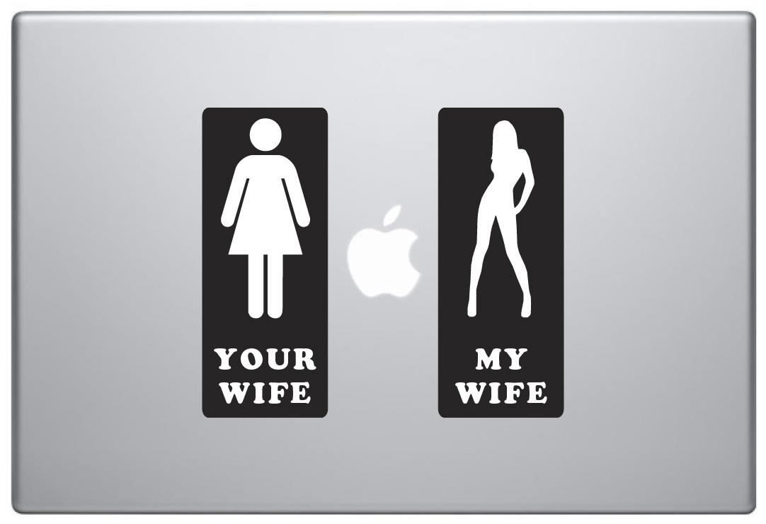 MacBook Aufkleber / Decal - My Wife