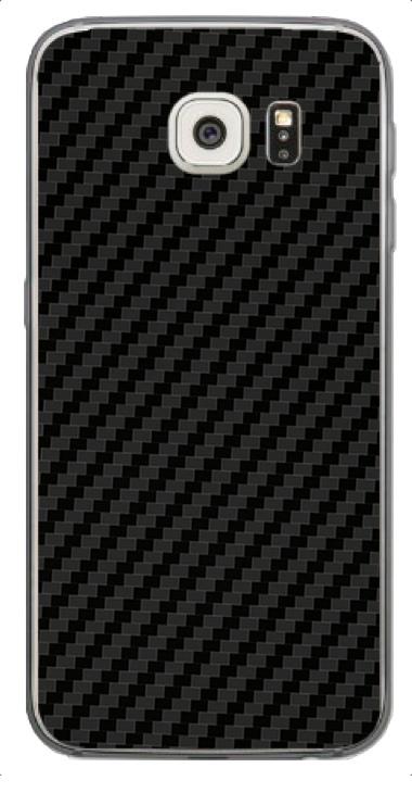 Samsung Galaxy S6 3D Aufkleber / Sticker für Rückseite - Carbon schwarz