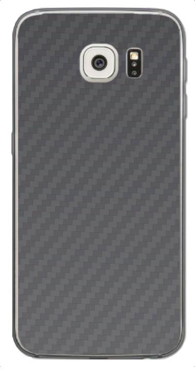 Samsung Galaxy S6 Edge 3D Aufkleber / Sticker für Rückseite - Carbon grau