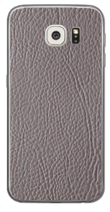 Samsung Galaxy S6 Edge 3D Aufkleber / Sticker für Rückseite - Leder. Grau
