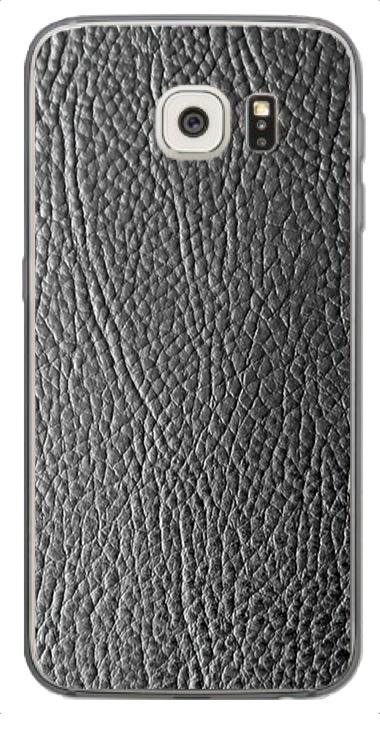 Samsung Galaxy S6 Edge 3D Aufkleber / Sticker für Rückseite - Schwarzes Leder
