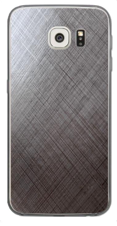 Samsung Galaxy S6 Edge 3D Aufkleber / Sticker für Rückseite - Schraffur