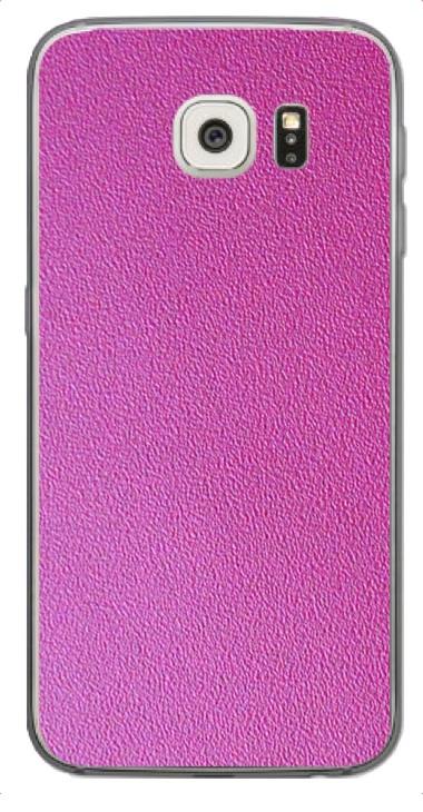 Samsung Galaxy S6 Edge 3D Aufkleber / Sticker für Rückseite - Think Pink