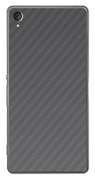Sony Xperia Z1 3D Aufkleber / Sticker für Rückseite - Carbon grau