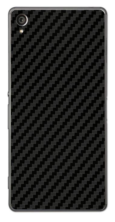 Sony Xperia Z1 3D Aufkleber / Sticker für Rückseite - Carbon schwarz