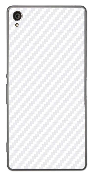 Sony Xperia Z1 3D Aufkleber / Sticker für Rückseite - Carbon weiß