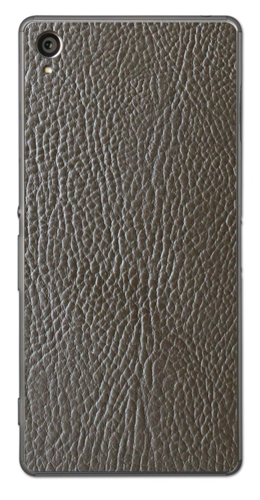 Sony Xperia Z1 3D Aufkleber / Sticker für Rückseite - Braunes Leder
