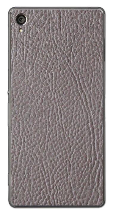 Sony Xperia Z1 3D Aufkleber / Sticker für Rückseite - Leder. Grau