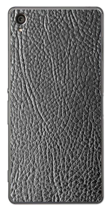 Sony Xperia Z1 3D Aufkleber / Sticker für Rückseite - Schwarzes Leder