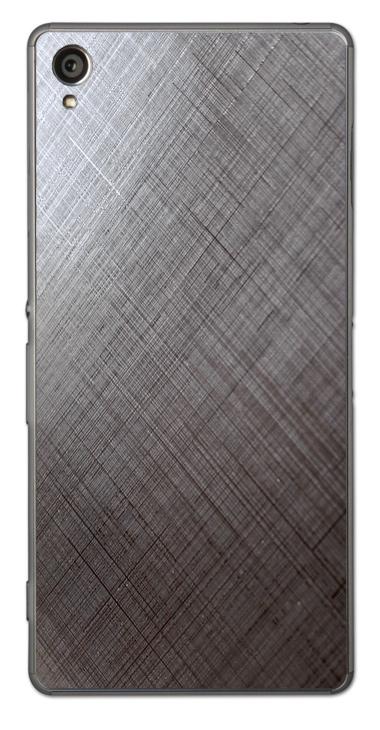 Sony Xperia Z1 3D Aufkleber / Sticker für Rückseite - Schraffur