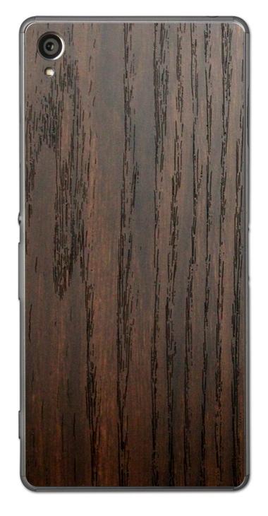 Sony Xperia Z1 3D Aufkleber / Sticker für Rückseite - Holz braun