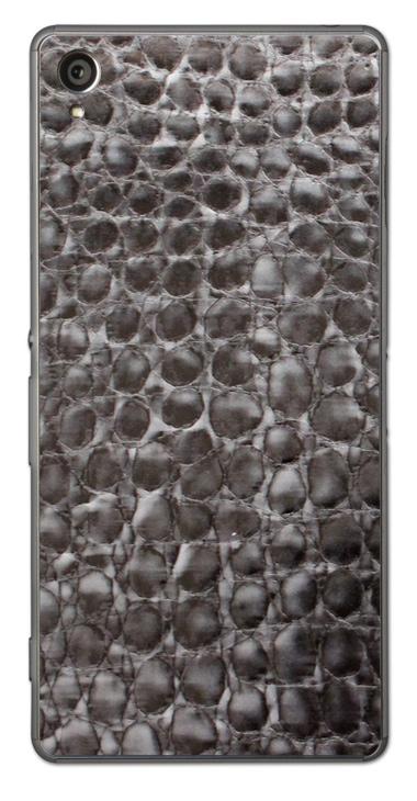 Sony Xperia Z3 3D Aufkleber / Sticker für Rückseite - Alligator Leder, grau
