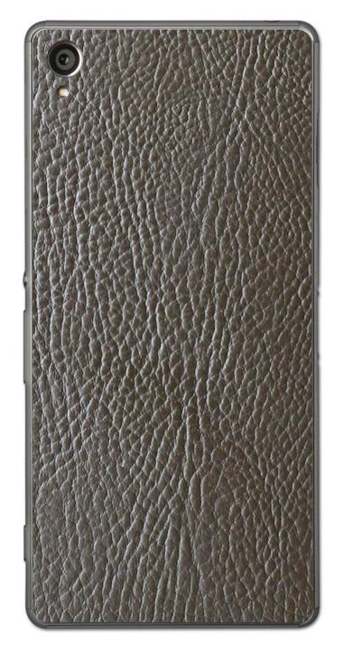 Sony Xperia Z3 3D Aufkleber / Sticker für Rückseite - Braunes Leder