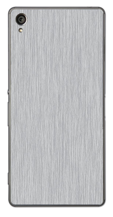 Sony Xperia Z3 3D Aufkleber / Sticker für Rückseite - Gebürsteter Stahl - silber