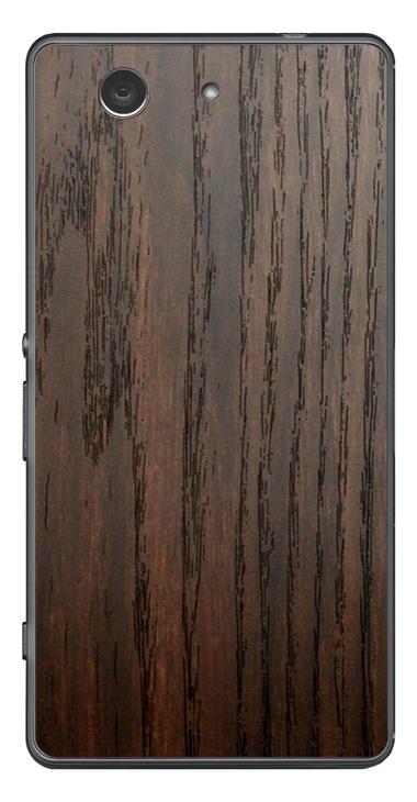 Sony Xperia Z3 Compact 3D Aufkleber / Sticker für Rückseite - Holz braun
