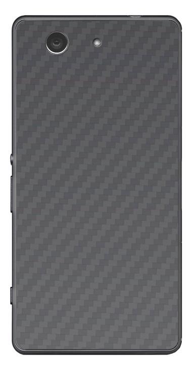 Sony Xperia Z3 Compact 3D Aufkleber / Sticker für Rückseite - Carbon grau
