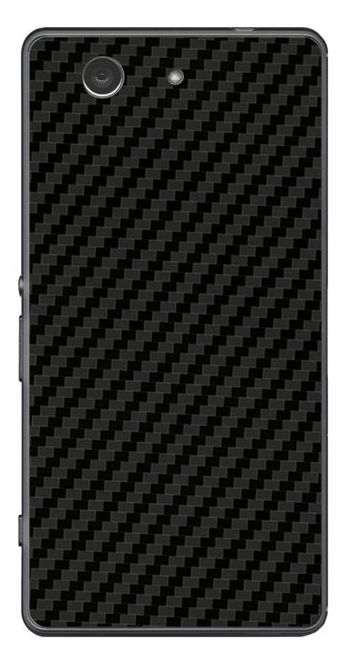 Sony Xperia Z3 Compact 3D Aufkleber / Sticker für Rückseite - Carbon schwarz