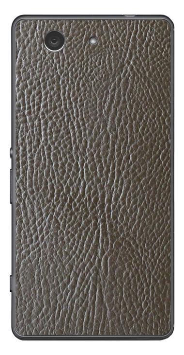 Sony Xperia Z3 Compact 3D Aufkleber / Sticker für Rückseite - Braunes Leder
