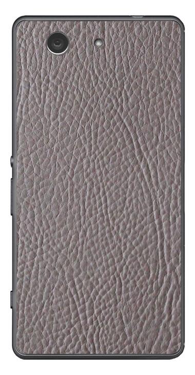 Sony Xperia Z3 Compact 3D Aufkleber / Sticker für Rückseite - Leder. Grau
