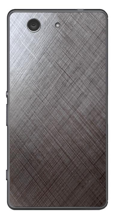 Sony Xperia Z3 Compact 3D Aufkleber / Sticker für Rückseite - Schraffur