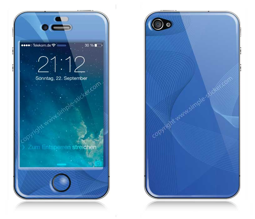 iPhone Aufkleber / Sticker 3D für iPhone 4/4S - Blue Magic