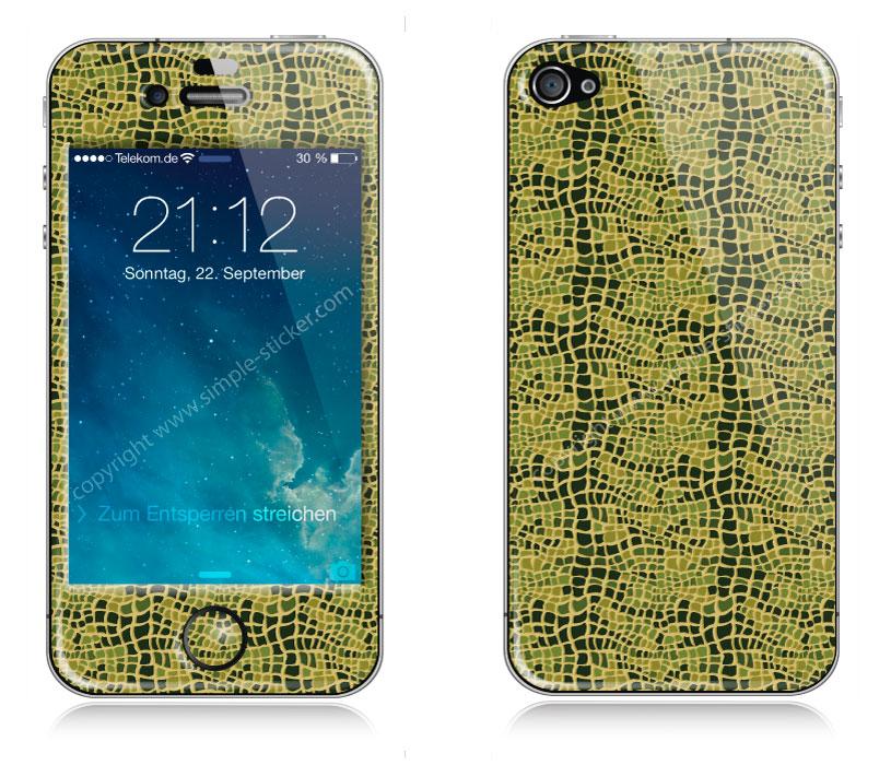iPhone Aufkleber / Sticker 3D für iPhone 4/4S - Alligator